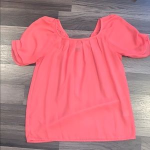 Coral Sheer Blouse. Size XS